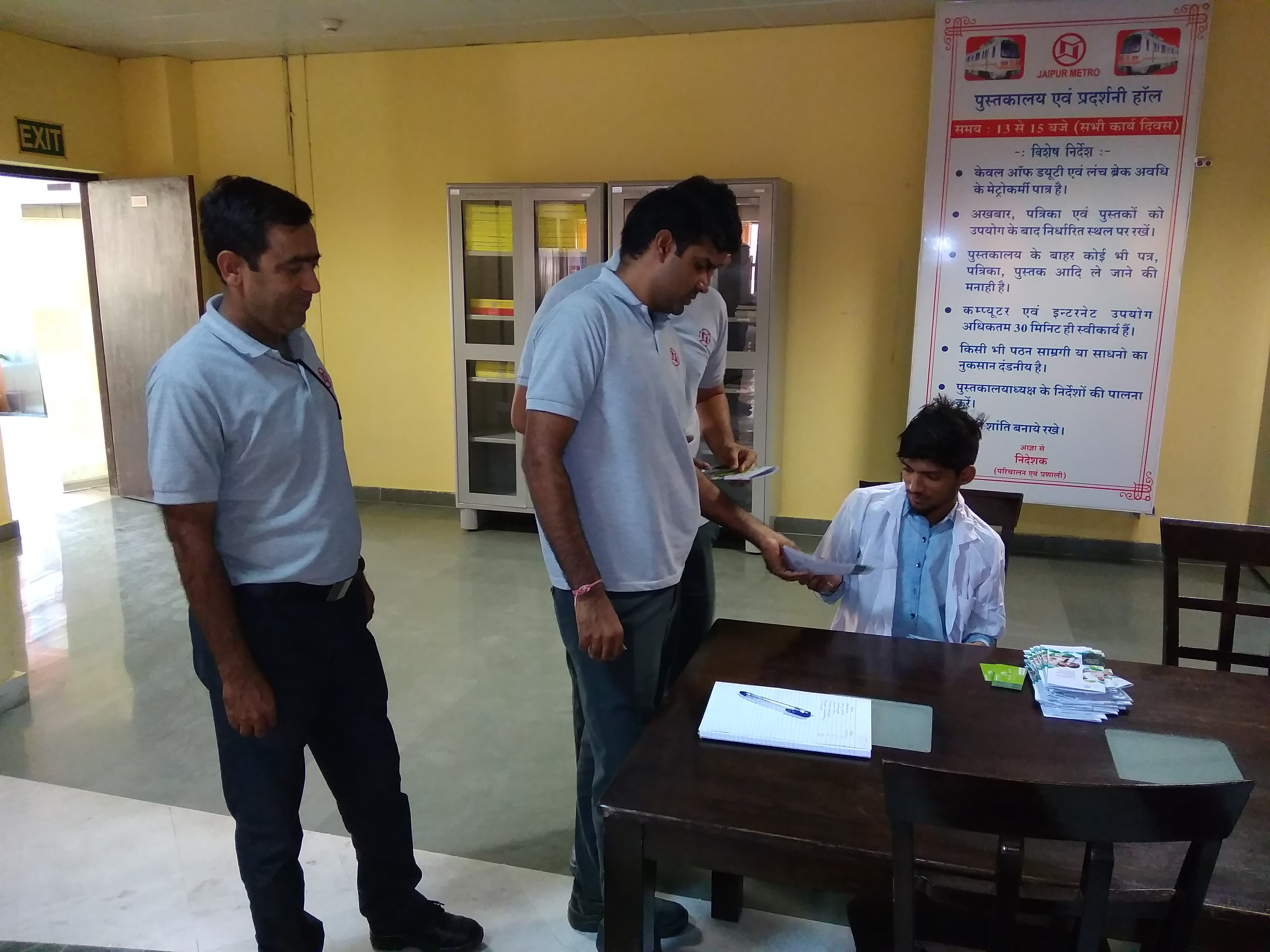 Health Awareness Camp at jaipur metro office by rootcure