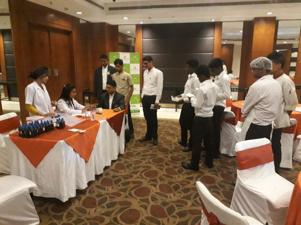 Health awareness camp in hotel-rootcure homeopathy