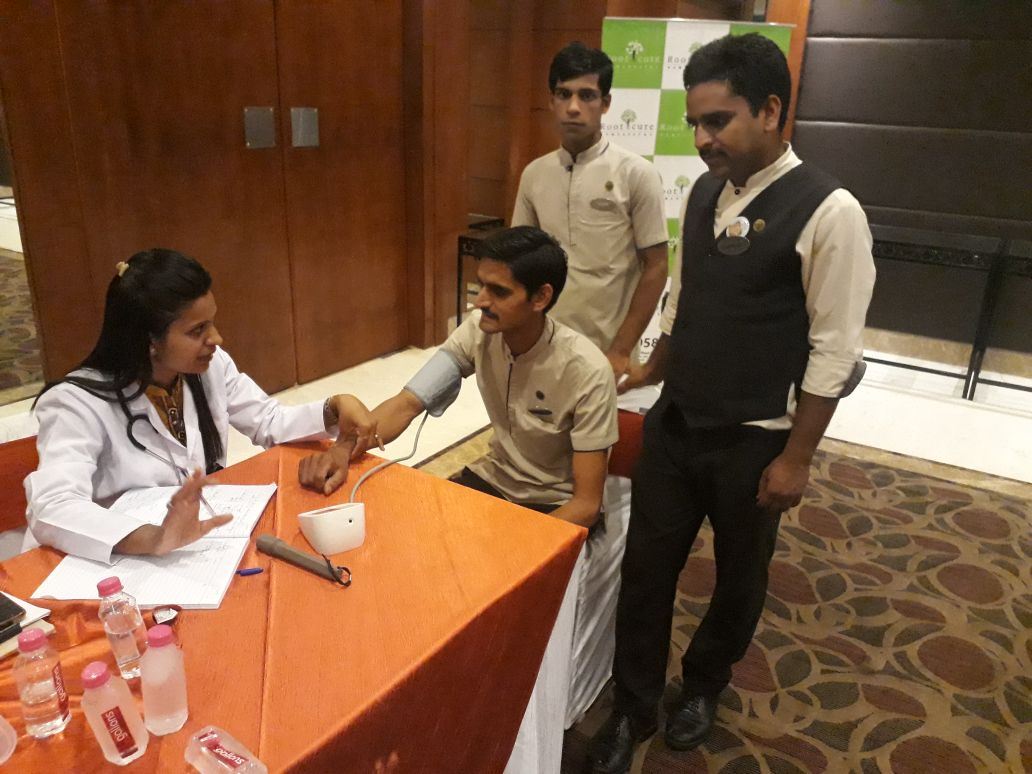 Health Awareness session with general check up camp was organized at Sarovar portico Hotel
